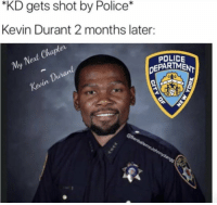 "Speechless 😱 https://t.co/NwV22jiEjd: ""KD gets shot by Police*  Kevin Durant 2 months later:  Nert  My  POLICE  DEPARTMENT  0  Du Speechless 😱 https://t.co/NwV22jiEjd"