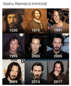 keanu reeves: Keanu Reeves is immortal  1530  1875  1991  1995  2003  2005  09  2009  2014  2017