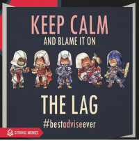 KEEP CALM  AND BLAME IT ON  THE LAG  #best advise ever  GAMING MEMES