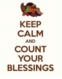 Memes, Keep Calm, and 🤖: KEEP  CALM  AND  COUNT  YOUR  BLESSINGS For more awesome holiday and fun pictures go to... www.snowflakescottage.com