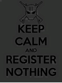 KEEP  CALM  AND  REGISTER  NOTHING ~Pandora   Americans Defending The 2nd