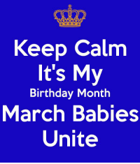 Don't forget to visit: https://zodiacthing.com/store/pisces  to shop for your birthday exclusive items: Keep Calm  It's My  Birthday Month  March Babies  Unite Don't forget to visit: https://zodiacthing.com/store/pisces  to shop for your birthday exclusive items