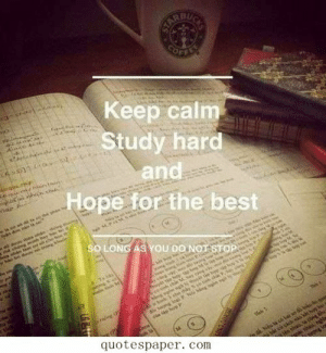 Tumblr, Best, and Http: Keep calm  Study hard  and  Hope for the best  SO LONG AS YOU DONOT  quotespaper. com If you are a student Follow @studentlifeproblems​