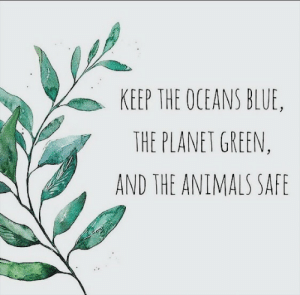 Animals, Blue, and The Animals: KEEP THE OCEANS BLUE,  THE PLANET GREEN,  AND THE ANIMALS SAFE