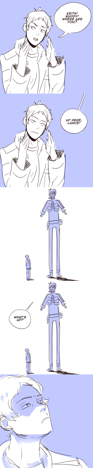 Target, Tumblr, and Wow: KEITH!  BUDDY!  WHERE ARE  YOUP   UP HERE  LANCE!   WHAT'S squivulous:  Wow, their new height difference