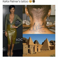 Now that's dope 👊🏾 17thsoulja BlackIG17th: Keke Palmer's tattoo  REMIUM  ROC  Queen  of Kush Now that's dope 👊🏾 17thsoulja BlackIG17th