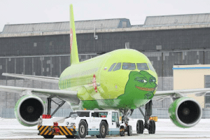 Flight, Airlines, and Kekistan: Kekistan Airlines Inaugural flight