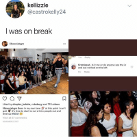 Memes, Break, and Time: kellizzle  @castrokelly24  I was on break  lilbooviebgm  11w Reply  firstclassd Is it me or do anyone see the in  and out worked on the left  8w Reply  Liked by dimplez_babbie, rubabeyy and 713 others  lilbooviebgm Been in my own lane at this point l can't  quit it's time to start to cut a lot a people out and  level up #BGM  View all 27 comments  NOVEMBER 2, 2017 WE WERE ON A BREAK