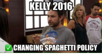 Doe, Memes, and Spaghetti: KELLY 2016  v CHANGINGSPAGHETTI POLICY does anyone know the current spaghetti policy?