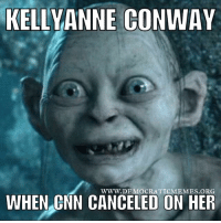 "Reportedly CNN refused to invite Kellyanne Conway on the Sunday shows! Must be another media blackout like the ""Bowling Green massacre!"" www.democraticmemes.org: KELLY ANNE CONWAY  WWW. DEMOCRATIC MEMES ORG  WHEN CNN CANCELED ON HER Reportedly CNN refused to invite Kellyanne Conway on the Sunday shows! Must be another media blackout like the ""Bowling Green massacre!"" www.democraticmemes.org"