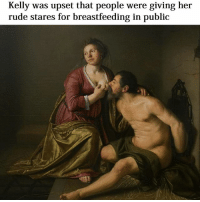 """Kelly was upset that people were giving her  rude stares for breastfeeding in public """"my son is 480 months old"""" 😜😜😜"""