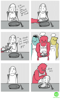 Full comic about eating from LINE WEBTOON Comics http://www.webtoons.com/en/slice-of-life/lunarbaboon/list?title_no=523: ken  amount  No really  I'm huw1  ANX  STRESS  ET  Good  bo1  ST  TOO Full comic about eating from LINE WEBTOON Comics http://www.webtoons.com/en/slice-of-life/lunarbaboon/list?title_no=523