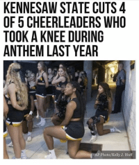 Play stupid games win stupid prizes. 🤷🏻‍♂️ PC: @cloydriverspics: KENNESAW STATE CUTS 4  OF 5 CHEERLEADERS WHO  TOOK A KNEE DURING  ANTHEM LAST YEAR  AP Photo/Kelly J. Huff Play stupid games win stupid prizes. 🤷🏻‍♂️ PC: @cloydriverspics
