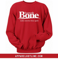"""Ken Bone for President 2016 @apparelhotline 🎤🎤 Grab your limited edition sweatshirts today! Red & Navy Blue Available Use promo code """"bonezone """" for 10% off anything in the store 🔥 @apparelhotline www.apparelhotline.com: kenneth  make america bone again  APPARELHOTLINE.COM Ken Bone for President 2016 @apparelhotline 🎤🎤 Grab your limited edition sweatshirts today! Red & Navy Blue Available Use promo code """"bonezone """" for 10% off anything in the store 🔥 @apparelhotline www.apparelhotline.com"""