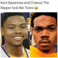 Do you see it? @throwbacksportz Tags: NBA Chance bazemore: Kent Bazemore and Chance The  Rapper look like Twins Do you see it? @throwbacksportz Tags: NBA Chance bazemore