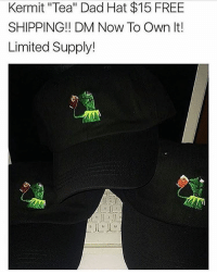 "🚨 Almost SOLD OUT 🚨 Your chance NOW to own your own Kermit ""Tea"" Dad Hat ☕️🐸 $15 FREE Shipping(Except International) DM NOW To OWN ONE ☕️🐸: Kermit ""Tea"" Dad Hat $15 FREE  SHIPPING DM Now To Own It!  Limited Supply! 🚨 Almost SOLD OUT 🚨 Your chance NOW to own your own Kermit ""Tea"" Dad Hat ☕️🐸 $15 FREE Shipping(Except International) DM NOW To OWN ONE ☕️🐸"