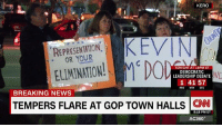 After testy town halls for representatives like Utah's Rep. Jason Chaffetz and Sen. Chuck Grassley of Iowa went viral, some GOP politicians are staying clear of town hall-style events in their home districts. http://cnn.it/2lN7qcI: KERO  KEVIN  REPRESENTATION  ELIMINATION!  MCD  TONIGHT AT 10 PM ET  DEMOCRATIC  ND  LEADERSHIP DEBATE  1 41 57  HRS  MIN  SEC  BREAKING NEWS  TEMPERS FLARE AT GoP TowN HALLS CNN  8:18 PM ET  AC360° After testy town halls for representatives like Utah's Rep. Jason Chaffetz and Sen. Chuck Grassley of Iowa went viral, some GOP politicians are staying clear of town hall-style events in their home districts. http://cnn.it/2lN7qcI