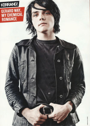 Gerard Way: KERRANG  GERARD WAY,  MY CHEMICAL  ROMANCE