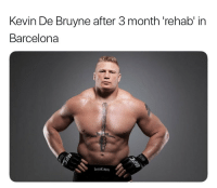Dude, Jesus, and Soccer: Kevin De Bruyne after 3 month 'rehab in  Barcelonaa  LVICH Next time I get injured I want whatever the hell Pep's Barca rehab dude keeps giving Aguero and Jesus to make them come back so fast 😂