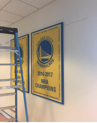 New decor at the Warriors facility. 🏆😍 . [via twitter-wittnessed]: , KEVIN DURANT . DRAY MOND GREEN . ANDRE IGUODALA * DAMIAN JONES .  0  2B New decor at the Warriors facility. 🏆😍 . [via twitter-wittnessed]