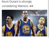 👀 nbamemes warriors nba kevindurant where do you think durant will go? 👀: Kevin Durant is strongly  considering Warriors.  ee  IG: @nba memes  ARRIO  30 👀 nbamemes warriors nba kevindurant where do you think durant will go? 👀