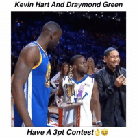 Draymond Green, Kevin Hart, and Memes: Kevin Hart And Draymond Green  .15  CKI  A)  Have A 3pt Contest NeverForget When Kevin Hart And Draymond Green Had A 3 Point Contest😂👀 - Follow @halftimeplays For More!!
