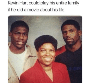I would like to see that by pfund MORE MEMES: Kevin Hart could play his entire family  if he did a movie about his life I would like to see that by pfund MORE MEMES