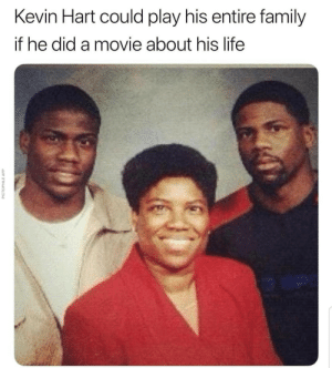 Memes: Kevin Hart could play his entire family  if he did a movie about his life  PICTOPHILE APP Memes