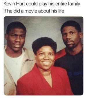 He's the one in the middle, I think…: Kevin Hart could play his entire family  if he did a movie about his life  o an He's the one in the middle, I think…