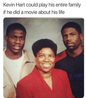 The movie about the Hart's starring Kevin Hart: Kevin Hart could play his entire family  if he did a movie about his life The movie about the Hart's starring Kevin Hart