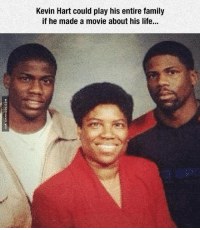Kevin Hart's Life Movie: Kevin Hart could play his entire family  if he made a movie about his life... Kevin Hart's Life Movie