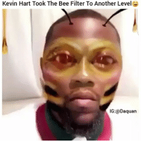 Kevin Hart a fool😂😂: Kevin Hart Took The Bee Filter To Another LevelG  IG:@Daquan Kevin Hart a fool😂😂