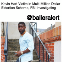 "Kevin Hart Victim in Multi-Million Dollar Extortion Scheme, FBI Investigating - blogged by @MsJennyb ⠀⠀⠀⠀⠀⠀⠀ ⠀⠀⠀⠀⠀⠀⠀ As KevinHart's cheating scandal unfolds, TMZ reports that the comedian has brought in the FBI to investigate. ⠀⠀⠀⠀⠀⠀⠀ ⠀⠀⠀⠀⠀⠀⠀ Sources tell the publication that an anonymous person sent the ""sexually suggestive"" video to Hart's camp, where Hart is seen cozying up with a woman. ⠀⠀⠀⠀⠀⠀⠀ ⠀⠀⠀⠀⠀⠀⠀ TMZ reports, that the woman has asked for several million dollars to keep the video under wraps. However, the video, which has been obtained and viewed by BallerAlert, appears to have been recorded without Hart's knowledge or consent which is illegal. At the end of the video, the woman describes Hart as a womanizer, as she explains the reasoning behind the leak. She says the video is a lesson to all celebrities to stay ""honest, faithful and real."" ⠀⠀⠀⠀⠀⠀⠀ ⠀⠀⠀⠀⠀⠀⠀ In turn, the FBI has stepped in. According to TMZ, officials say they know who contacted Hart. But, it remains unclear if she was the one who demanded the money or if another party who got ahold of the woman's phone made the demand. ⠀⠀⠀⠀⠀⠀⠀ However, it appears the latter may be the case. ⠀⠀⠀⠀⠀⠀ ⠀⠀⠀⠀⠀⠀⠀ As the investigations continues, Hart has the opportunity to sue for the criminal offense.: Kevin Hart Victim in Multi-Million Dollair  Extortion Scheme, FBl Investigating  @balleralert Kevin Hart Victim in Multi-Million Dollar Extortion Scheme, FBI Investigating - blogged by @MsJennyb ⠀⠀⠀⠀⠀⠀⠀ ⠀⠀⠀⠀⠀⠀⠀ As KevinHart's cheating scandal unfolds, TMZ reports that the comedian has brought in the FBI to investigate. ⠀⠀⠀⠀⠀⠀⠀ ⠀⠀⠀⠀⠀⠀⠀ Sources tell the publication that an anonymous person sent the ""sexually suggestive"" video to Hart's camp, where Hart is seen cozying up with a woman. ⠀⠀⠀⠀⠀⠀⠀ ⠀⠀⠀⠀⠀⠀⠀ TMZ reports, that the woman has asked for several million dollars to keep the video under wraps. However, the video, which has been obtained and viewed by BallerAlert, appears to have been recorded without Hart's knowledge or consent which is illegal. At the end of the video, the woman describes Hart as a womanizer, as she explains the reasoning behind the leak. She says the video is a lesson to all celebrities to stay ""honest, faithful and real."" ⠀⠀⠀⠀⠀⠀⠀ ⠀⠀⠀⠀⠀⠀⠀ In turn, the FBI has stepped in. According to TMZ, officials say they know who contacted Hart. But, it remains unclear if she was the one who demanded the money or if another party who got ahold of the woman's phone made the demand. ⠀⠀⠀⠀⠀⠀⠀ However, it appears the latter may be the case. ⠀⠀⠀⠀⠀⠀ ⠀⠀⠀⠀⠀⠀⠀ As the investigations continues, Hart has the opportunity to sue for the criminal offense."
