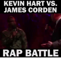 Kevin Hart, Memes, and Rap: KEVIN HART VS.  JAMES CORDEN  RAP BATTLE Kevin Hart Vs James Corden