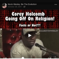 Memes, Evolution, and Religion: Kevin Wesley: Be The Evolution  October 28, 2017  Corey Holcomb  Going Off On Religion!  Faets or Not?l?  IAMKEVINWESLEY  0:59 Regrann from @iamkevinwesley ptolmeysoter serapis niceancreed councilofnicea thesunofgod ariusthelibyan hadrianaugustus constantine YouGoneGetDisWork