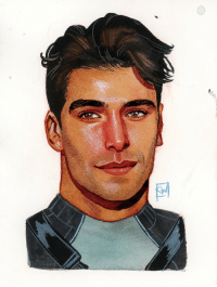 Target, Tumblr, and Blog: kevinwada:  Dick Grayson headshot #inktober