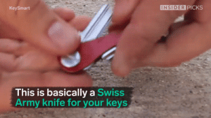 novelty-gift-ideas:Compact Key Holder and Keychain Organizer: KeySmart  INSIDER PICKS  This is basically a Swiss  Army knife for your keys novelty-gift-ideas:Compact Key Holder and Keychain Organizer