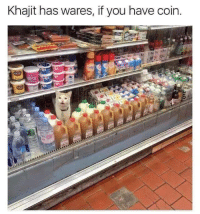 You,  Coin, and Khajit: Khajit has wares, if you have coin.  in