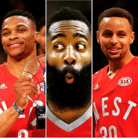 Only two of these guys can start in the All-Star Game. Who should come off the bench? (via ESPN): KIA  EST Only two of these guys can start in the All-Star Game. Who should come off the bench? (via ESPN)