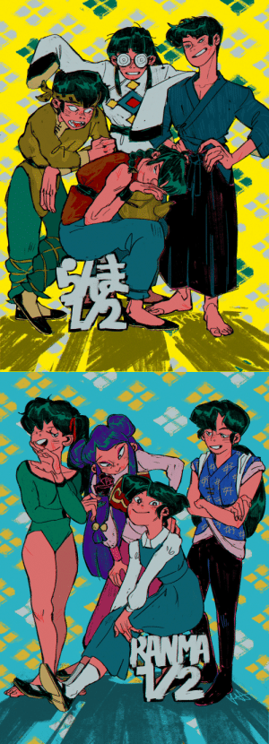 kia-g:  My contribution to @swmtk's Ranma zine from a while back. Was a real fun piece to make, glad I got to be apart of it!: kia-g:  My contribution to @swmtk's Ranma zine from a while back. Was a real fun piece to make, glad I got to be apart of it!