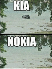 What's the difference between Kia and Nokia?: KIA  NOKIA What's the difference between Kia and Nokia?