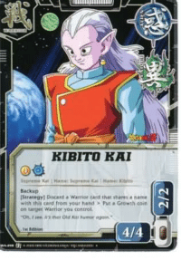you know your cool when you have your own card ;): KIBI TO KAI  Backup  strategy 1 Discard Warrior tant that shares nama  with thi card from your hand Put a Growth coin  on target warrior you control. you know your cool when you have your own card ;)