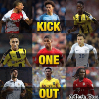 KICK  20  ONE  EVor  rate  OUT  aJeetu.Base Kick One Out Youngsters!🔥 Comment the youngster you think has the LEAST potential, the biggest talent will remain!🔥😁 Follow @memesofootball
