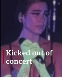 @dualipa was left in tears as several fans were dragged out of her concert in Shanghai. Some people say it's because they were dancing and waving LGBT flags – tap the link in our bio to find out more. dualipa music pop shanghai china lgbt bbcnews: Kicked out of  concert @dualipa was left in tears as several fans were dragged out of her concert in Shanghai. Some people say it's because they were dancing and waving LGBT flags – tap the link in our bio to find out more. dualipa music pop shanghai china lgbt bbcnews