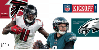 KICKOFF  ATLANTA  FALCONS  PHILADELPHIA  EAGLES  0  0  0 .@AtlantaFalcons or @Eagles? #Kickoff2018  @HarrisonNFL's #ATLvsPHI game pick: https://t.co/TlvLbcQv9o https://t.co/Rma6zE3iUu