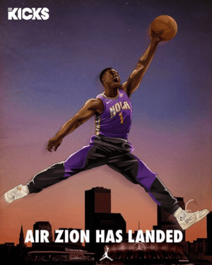 Breaking: Zion Williamson signs multiyear deal with Jordan Brand   (B/R Kicks): KICKS  AIR ZION HAS LANDED Breaking: Zion Williamson signs multiyear deal with Jordan Brand   (B/R Kicks)