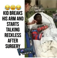 Friends, Memes, and Back: KID BREAKS  HISARM AND  STARTS  TALKING  RECKLESS  AFTER  SURGERY  1 Dm to 5 friends for a follow back ! 🤣 funnyclipsig