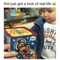 Life, Memes, and Hilarious: Kid just got a look of real life  GH  yum!  UTE wait for it! 😂 👉🏻(@bestvideos hilarious) Credit: @afvofficial