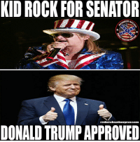 America, Beer, and Donald Trump: KID ROCKFOR SENATOR  NECK NA  rednecknationgearcom  DONALD TRUMP APPROVED He does love Michigan ____________________________________ 🔥SHIRTS🔥HATS🔥STICKERS🔥 🚨SHOP AT🚨LINK IN PROFILE🚨 💻REDNECKNATIOGEAR.COM💻 📲ALSO FOLLOW📲 👍🏼@bobbyrednecknation👍🏼 👍🏼2nd page @the_redneck_army 👍🏼3rd page @diptalk👍🏼 👍🏼4th page @dieselnation ____________________________________ rednecknation rhec southern south trucks guns beer country dixie merica america redneck confederate ford chevy dodge realtree mossyoak keepitflyin hunting gun 2ndamendment patriot rednecklife countrygirls confederateflag