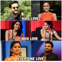 Love, Memes, and Kids: KIDS LOVE  MEN LOVE  EVERYONE LOVE Ravi - Sreemukhi : We like their anchoring Rashmi - Anasuya : We enjoy their anchoring Suma Akka - Pradeep : We love ❤